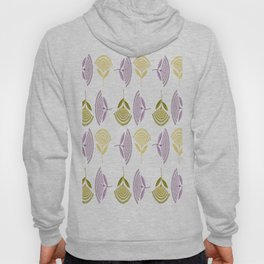 Abstract Stylized Floral Dandelion Repeating Pattern in Lilac Hoody