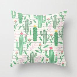 cactus pc Throw Pillow
