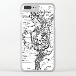 THE ENTIRE HUMAN BOD. Clear iPhone Case