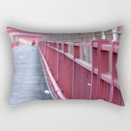 Red Railing Rectangular Pillow