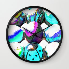 Colored eggs Wall Clock