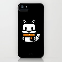 Fox Silhouette Kids Gift Lover Design iPhone Case