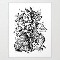 pumpkin Art Prints featuring Pumpkin by Irina Vinnik