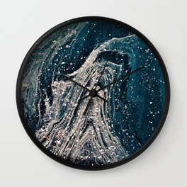 Marbled & Speckled Wall Clock