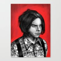 jack white Canvas Prints featuring Jack White by Dr.Söd