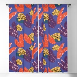 Leopards in the forest // Forest collection // pattern design Blackout Curtain