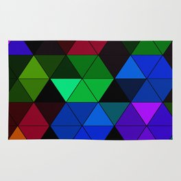 Colorful Triangle Mosaic Rug