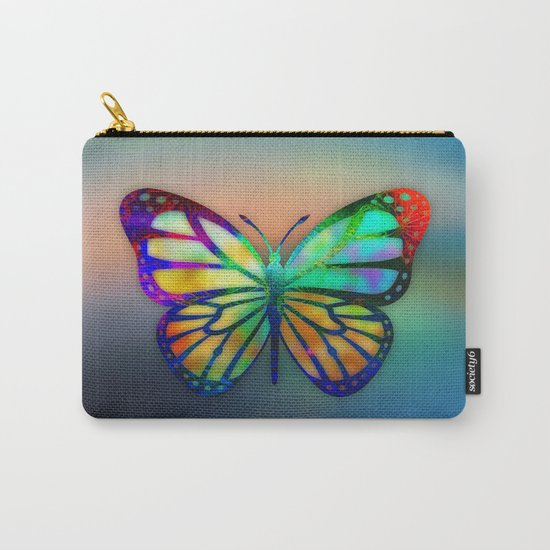 Vivid Butterfly Carry-All Pouch