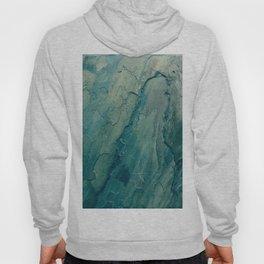Aqua Blue Marble Hoody