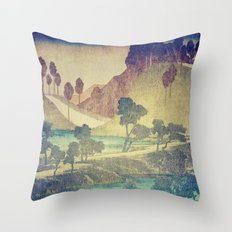 A Valley in the Evening Throw Pillow