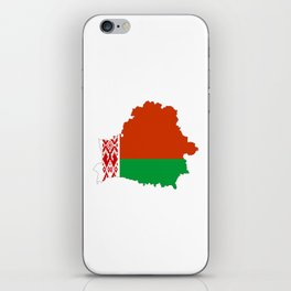Belarus flag map iPhone Skin