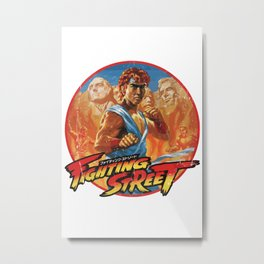 Fighting Street Metal Print