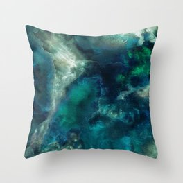 Blue Cove Days. Throw Pillow