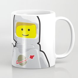 Vintage White Spaceman Minifig Coffee Mug
