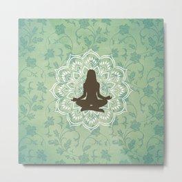 Yoga Meditation Mandala Metal Print