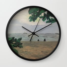 Mero Beach Wall Clock