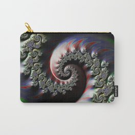 Cool Wet Paint Fractal Swirl of RGB Primary Colors Carry-All Pouch