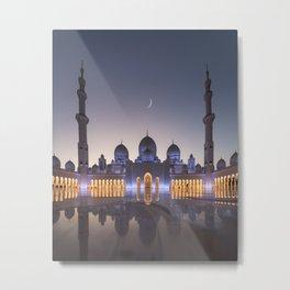 White Mosque in Abu Dhabi Metal Print