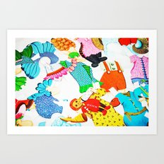 Paper Clothes Art Print
