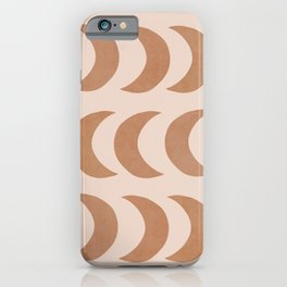 Pastel half moon pattern iPhone Case