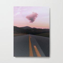 Road Red Cloud Metal Print