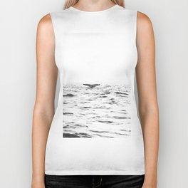 WHITE - SEA - WAVES - WATER - WHALE - NATURE - ANIMAL - PHOTOGRAPHY Biker Tank