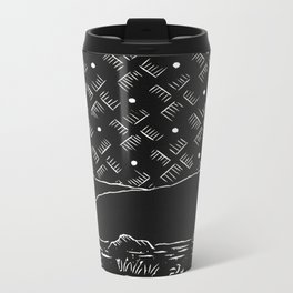 Solitude Camping Linocut Metal Travel Mug