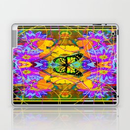 Monarch Butterfly Garden Abstract Laptop & iPad Skin