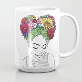 Flowered Hair Girl Coffee Mug