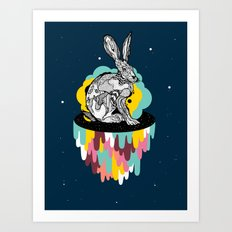 Space Rabbit Art Print