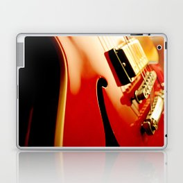 Jazz Guitar Closeup Laptop & iPad Skin