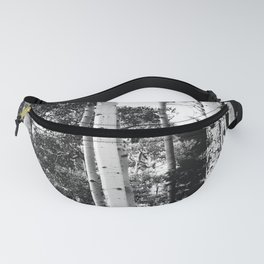 Aspen Forest - Black And White Nature Photography Fanny Pack