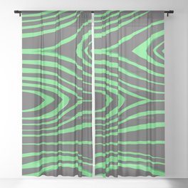 Green Wood Pattern On Gray Background #society6 Sheer Curtain