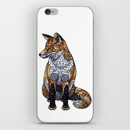 Stained Glass Fox iPhone Skin