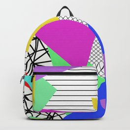 Bits And Pieces - Retro, random, abstract pattern Backpack