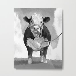 Welcome to the Pasture Metal Print
