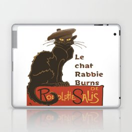 Le Chat Rabbie Burns With Tam OShanter Laptop & iPad Skin