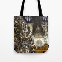 new year Tote Bags featuring New Year 3 by Veronika
