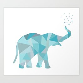Origami Elelphant Art Print