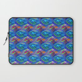 Colorful  blue scales Laptop Sleeve