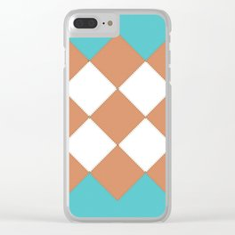 """Geometic Print """"Quilted"""" Clear iPhone Case"""