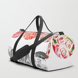 Roses Are Cream, Five Marbles and Circles of Shadow Reflection Duffle Bag