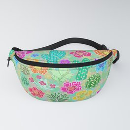 Cactus Festival Party - Green Fanny Pack