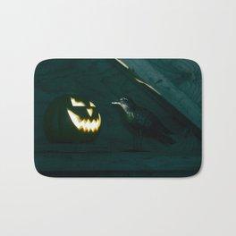 Conspirators of Evil - Glowing Jack O' Lantern and Black Crow Bath Mat