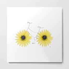 Sunflowers on the Go Metal Print