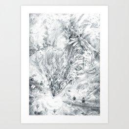 Fire Sword Art Print