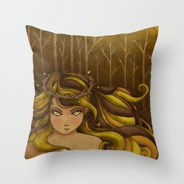 The Forest Queen Throw Pillow
