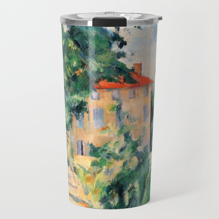 """Paul Cezanne """"House with red roof"""", 1890 Travel Mug"""