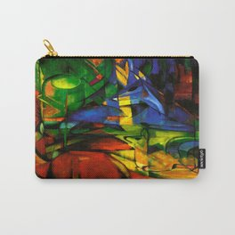 Deers in Wood by Franz Marc Carry-All Pouch