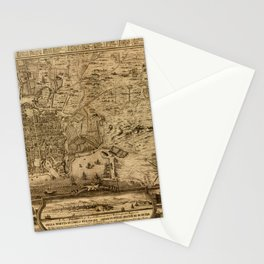 Map Of Palermo 1750 Stationery Cards